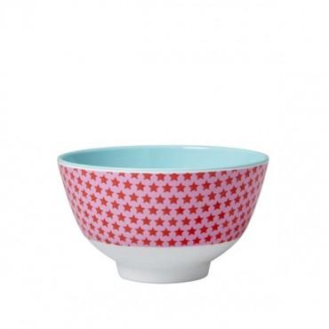Petit bol en mélamine – Star rose et rouge