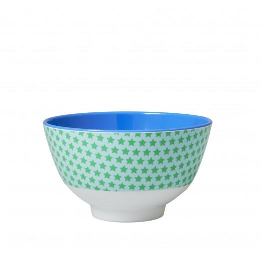 Petit bol en mélamine – Star vert et bleu