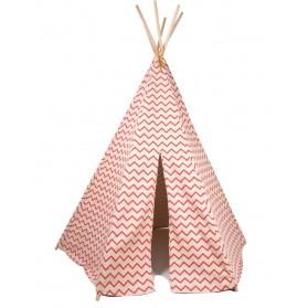 Tipi Arizona - Zigzag rouge