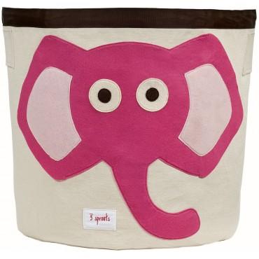 Bac à jouets - Eléphant rose