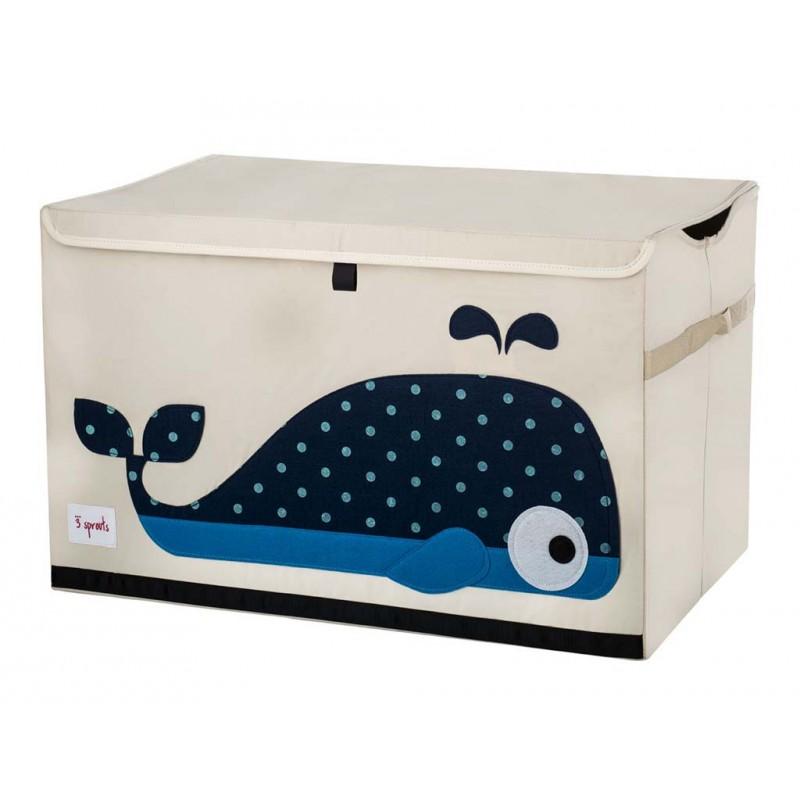 coffre jouets tissu baleine bleue le pestacle de ma lou. Black Bedroom Furniture Sets. Home Design Ideas