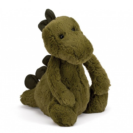 Peluche dinosaure - Bashful kaki