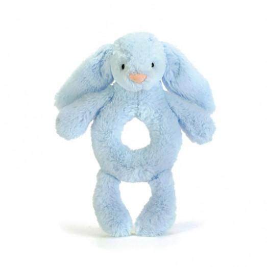 Hochet d'éveil lapin - Bashful grabber bleu