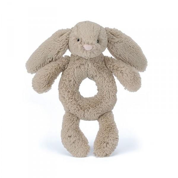 Hochet d'éveil lapin - Bashful grabber taupe