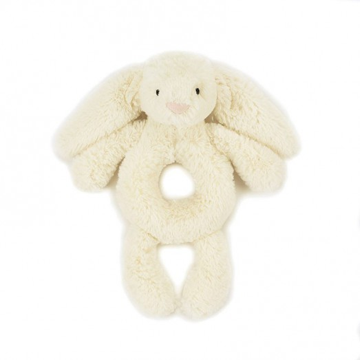 Hochet d'éveil lapin - Bashful grabber blanc