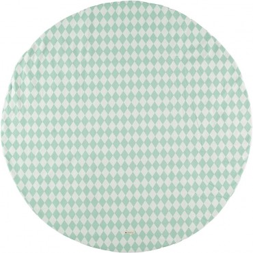 Tapis rond Apache S - Green diamonds