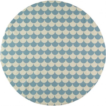 Tapis rond Apache S - Blue scales