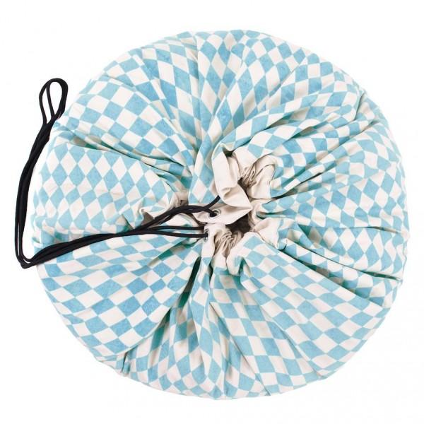 Tapis de jeu et sac de rangement - Losange bleu