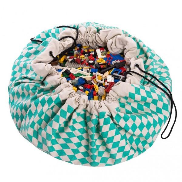 Tapis de jeu et sac de rangement - Losange vert