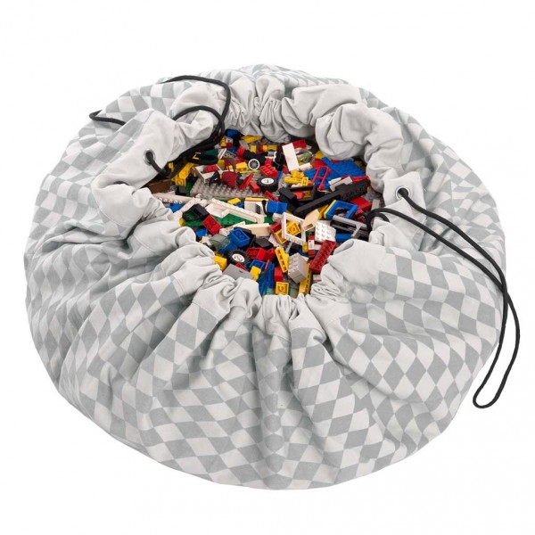 Tapis de jeu et sac de rangement - Losange gris