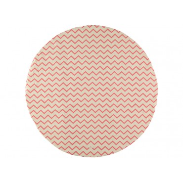 Tapis rond Apache S - Zigzag rouge