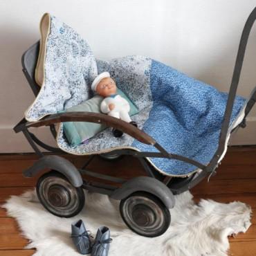 Couverture bébé en Liberty - Marcel