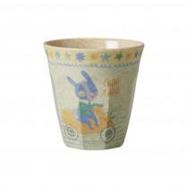 Petit verre imprimé mélamine et bambou - Boys race