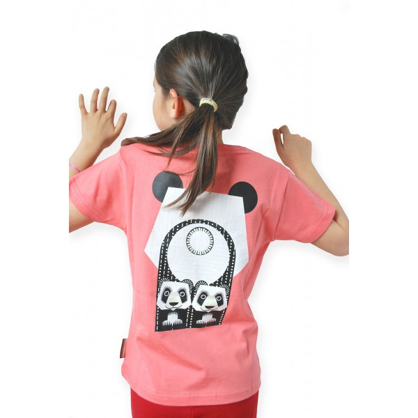 T-shirt enfant manches courtes face - Panda