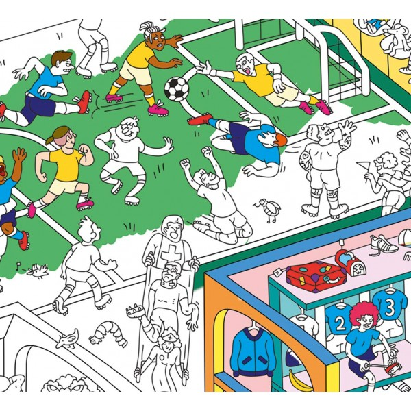 Poster Coloriage Géant - Football