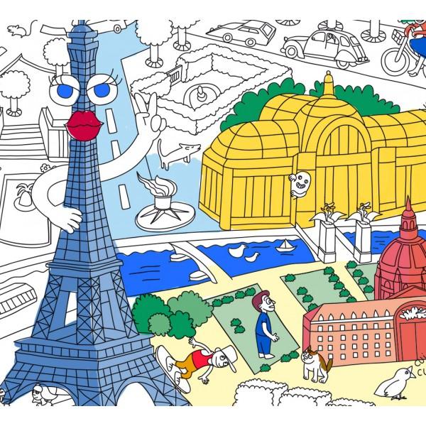 Poster Coloriage Géant - Paris