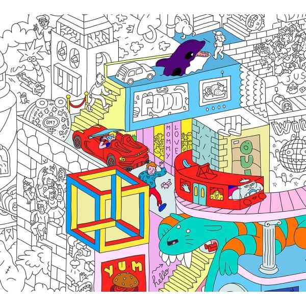 Poster Coloriage Géant - Party