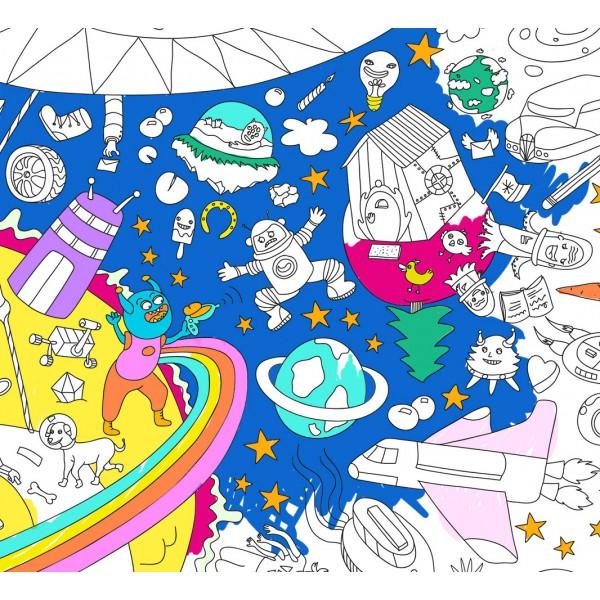 Poster Coloriage Géant - Cosmos