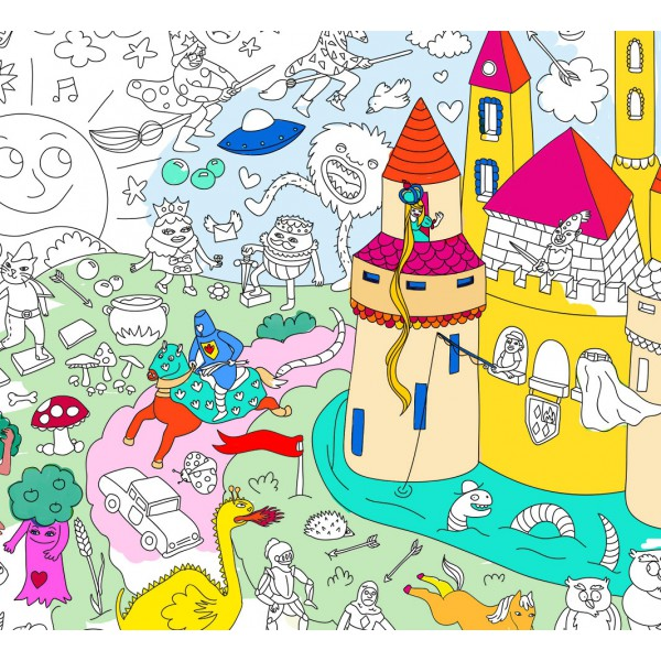 Poster Coloriage Géant - Magic