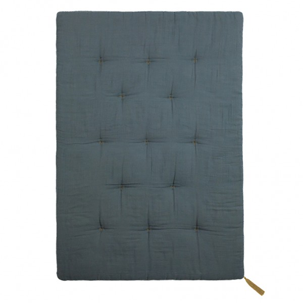 Futon édredon - Lange uni gris bleu