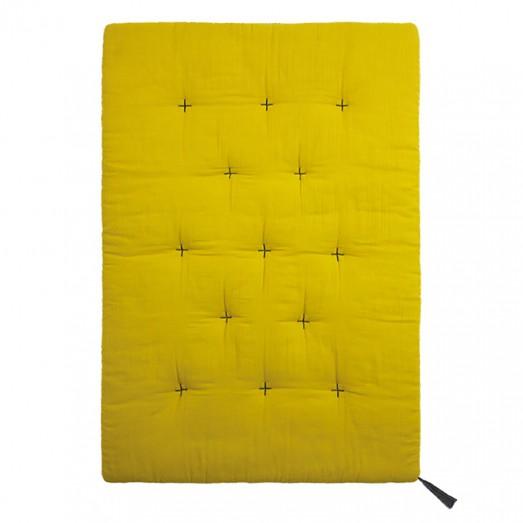 Futon édredon - Lange uni jaune