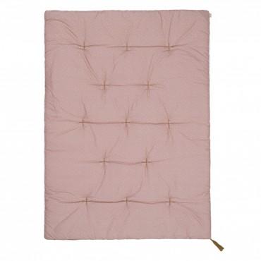 Futon édredon - Mini étoiles - Vieux rose