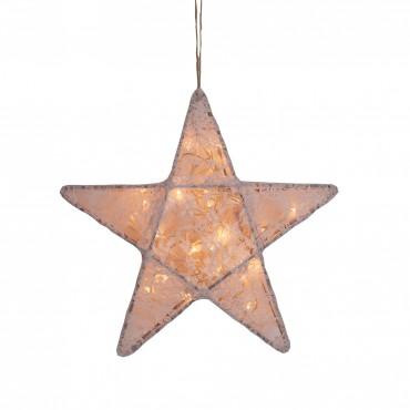 Lanterne étoile dentelle - Lace, Rose poudré