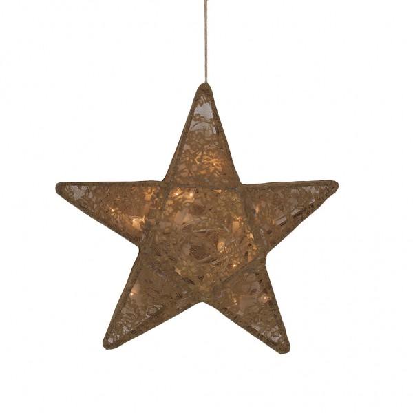 Lanterne étoile dentelle - Lace, Moutarde