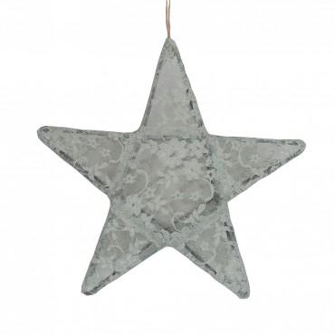 Lanterne étoile dentelle - Lace, Gris clair