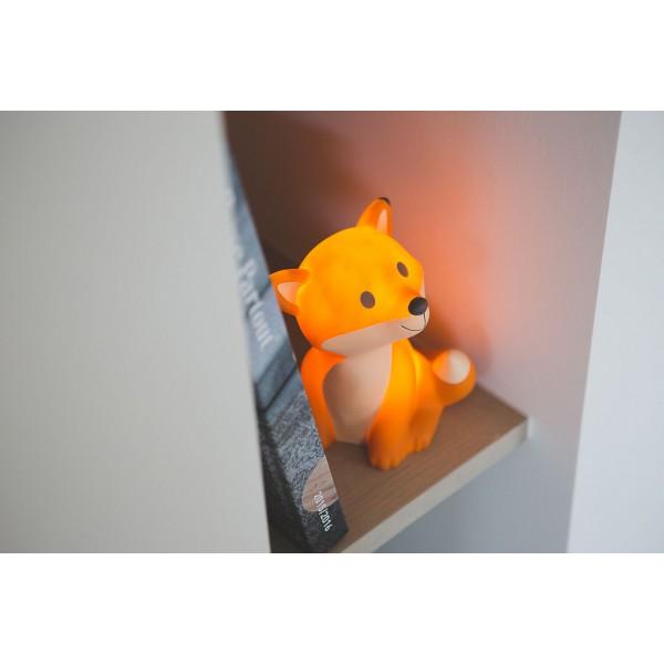 Lampe veilleuse renard Cesar - Orange