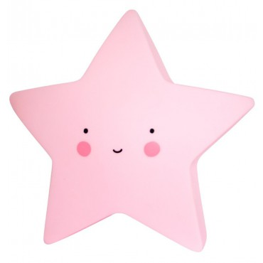 Petite veilleuse étoile - Rose