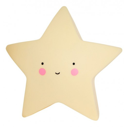 Petite veilleuse étoile - Jaune