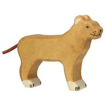 Figurine en bois - Lionne