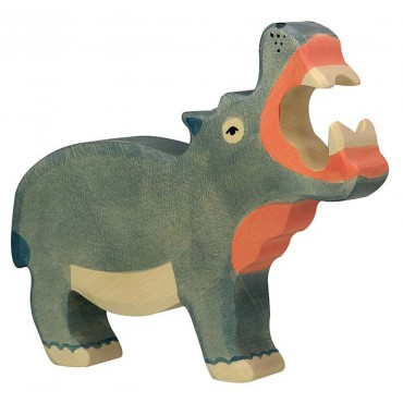 Figurine en bois - Hippopotame