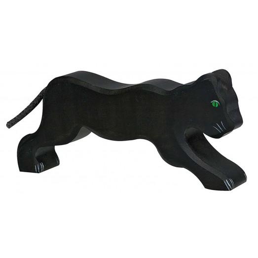 Figurine en bois - Panthère noire