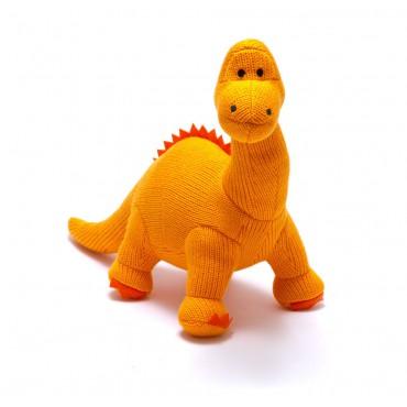 Dinosaure au crochet - Diplodocus orange - Medium