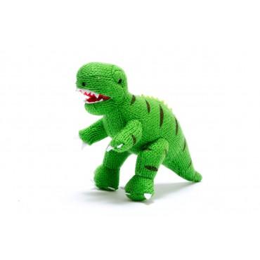 Hochet dinosaure au crochet - T-Rex vert