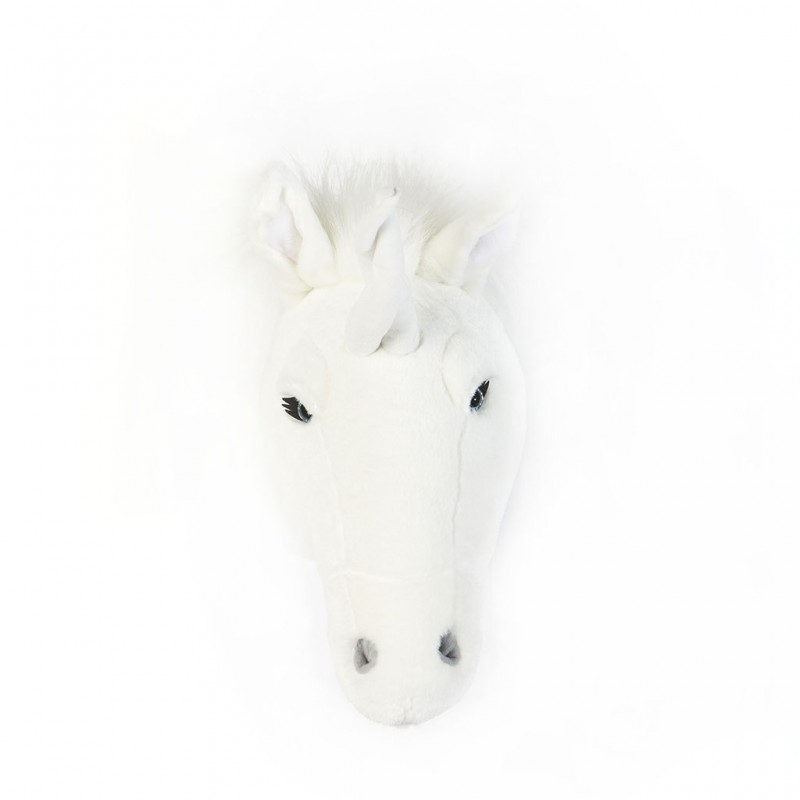 Troph e peluche licorne blanche claire le pestacle de for Decoration murale licorne