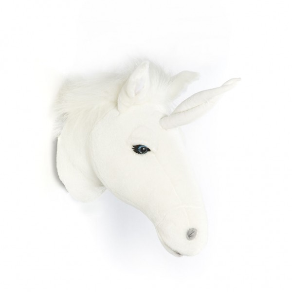 Trophée peluche - licorne blanche