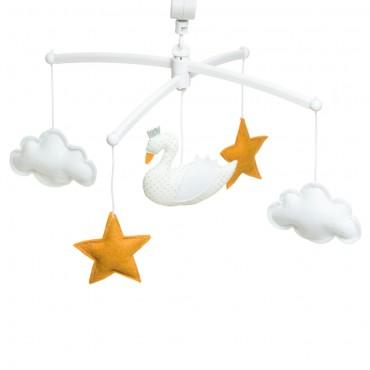 Mobile musical bébé - Cygne blanc
