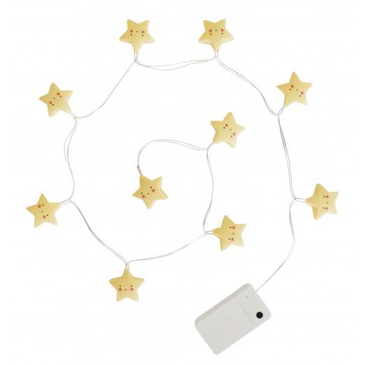 Guirlande lumineuse - Étoile jaune