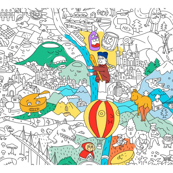 Poster coloriage géant - France