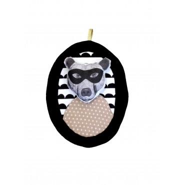 Trophée portrait encadré - Ours masqué