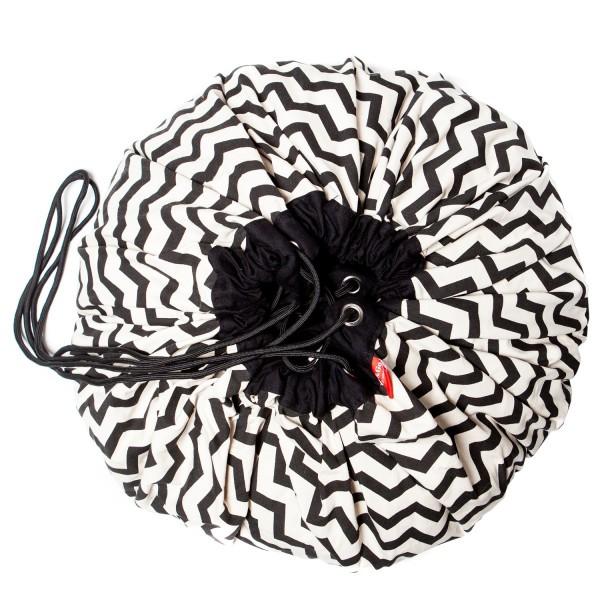 Tapis de jeu et sac de rangement Zigzag black