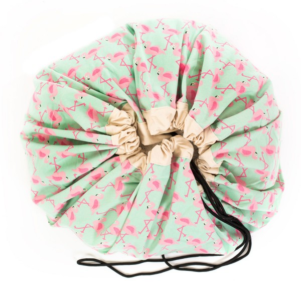 Tapis de jeu et sac de rangement Flamingo