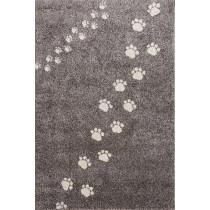 Tapis Empreintes - Gris - 135x190 cm
