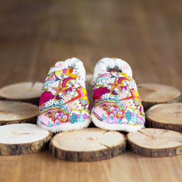 Chaussons liberty - Lily A