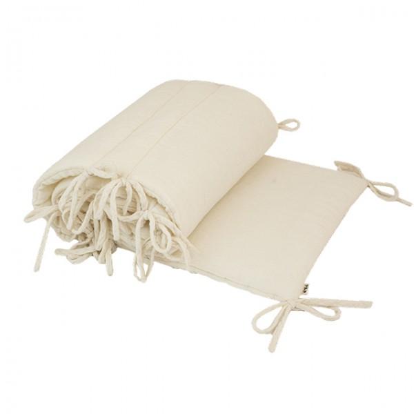 Tour de lit avec rembourrage - Blanc cassé