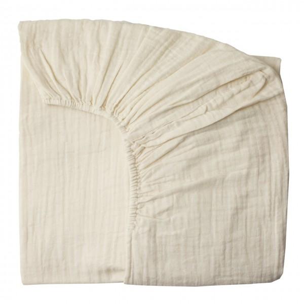 Drap housse 60x120 cm - Blanc cassé