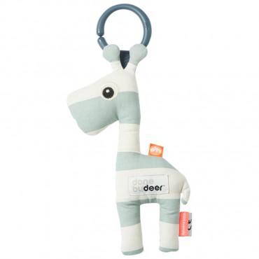 Hochet à suspendre - Girafe Raffi bleu